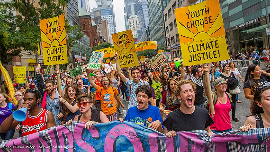 People's Climate March in New York City. September, 2014