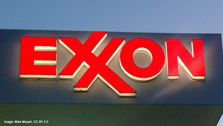 Neon Exxon sign by Mike Mozart