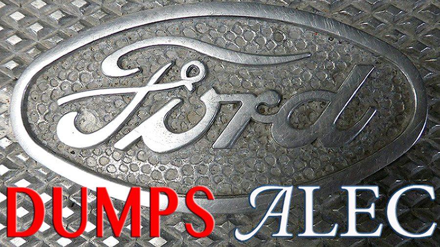 Ford dumps ALEC