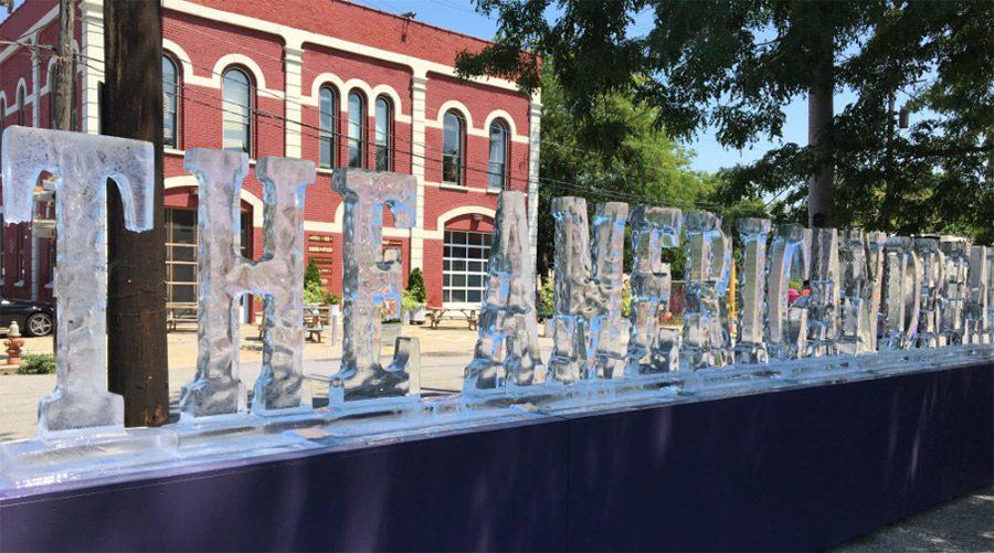 The American Dream ice sculpture