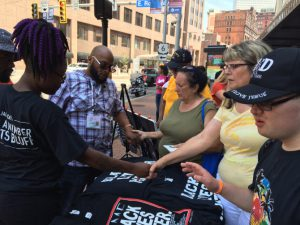 People Praying in Cleveland during RNC