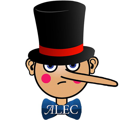 Sinister Pinocchio Wearing an ALEC Bow Tie