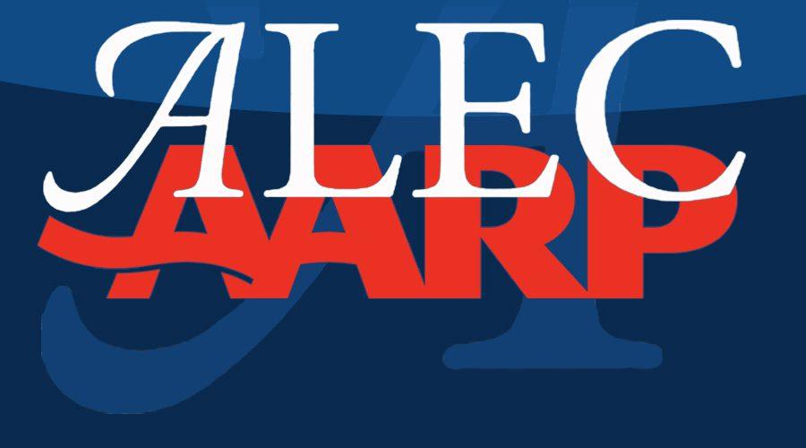 AARP and ALEC logos