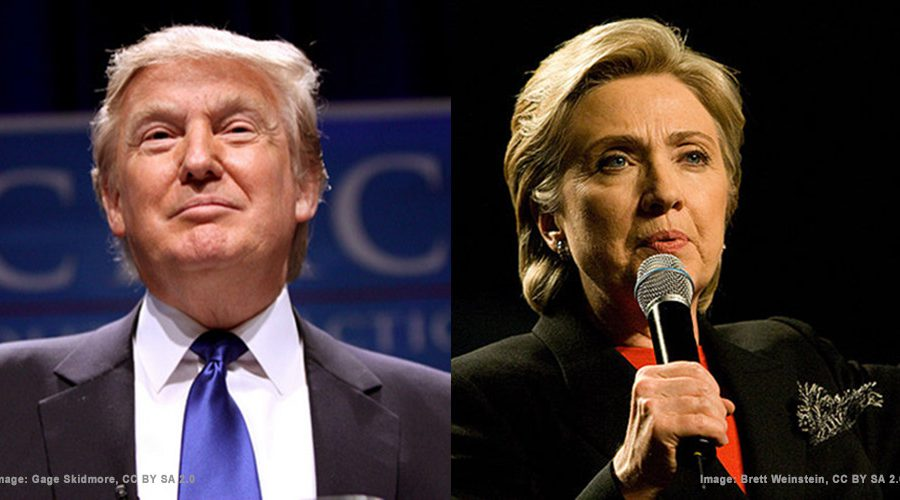 Trump and Clinton - CC BY SA 2.0 Skidmore and Weinstein