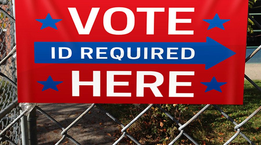 Vote Here - ID Required sign