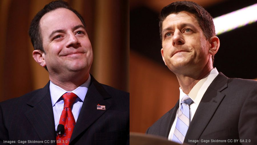 Reince Priebus and Paul Ryan (images Gage Skidmore)