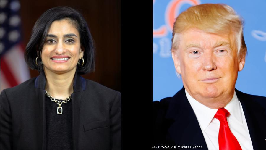 Seema Verma and Donald Trump