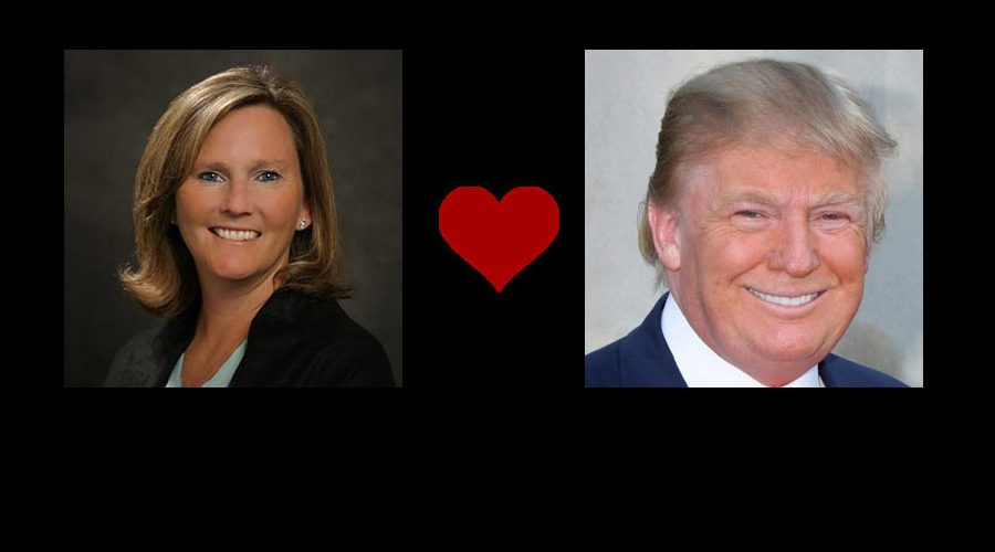 Lisa Nelson and Donald Trump