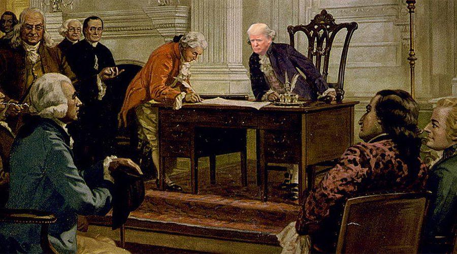 Trump at original Constitution signing