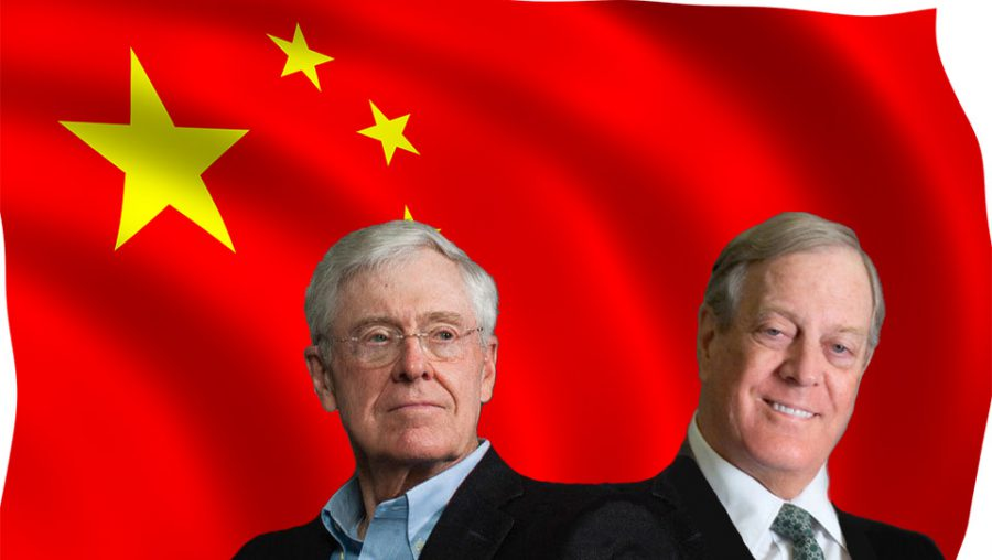 Chinese flag - Koch brothers