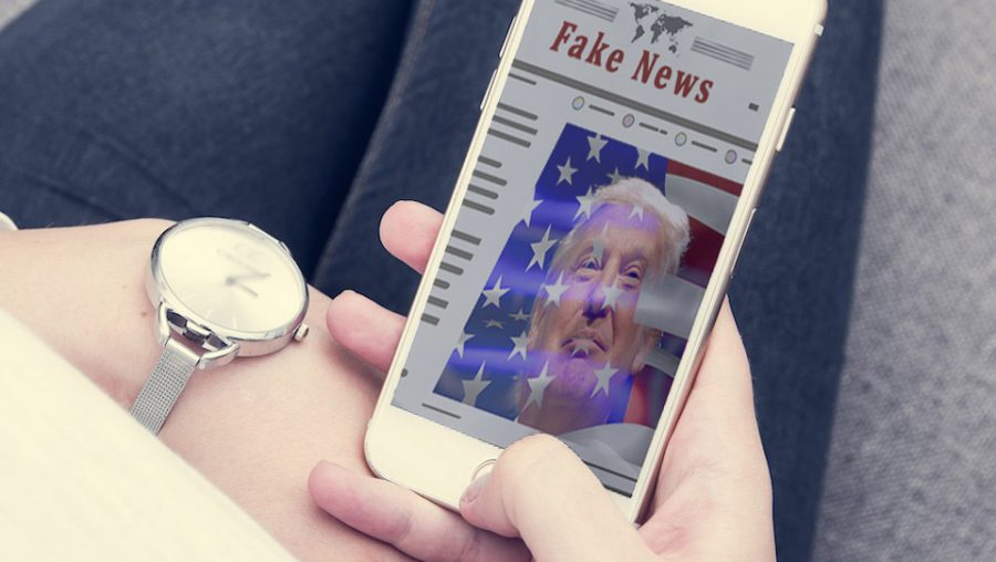 Fake news on a cell phone
