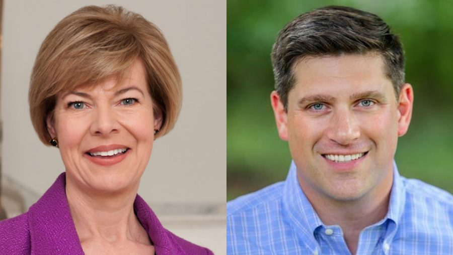 Tammy Baldwin and Kevin Nicholson