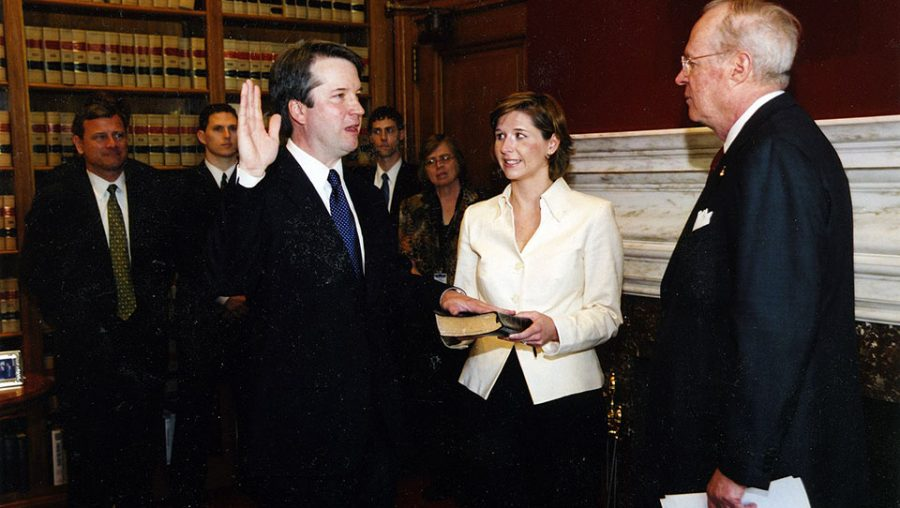 Brett Kavanaugh is sworn into DC Circuit by Justice Anthony Kennedy (2006).
