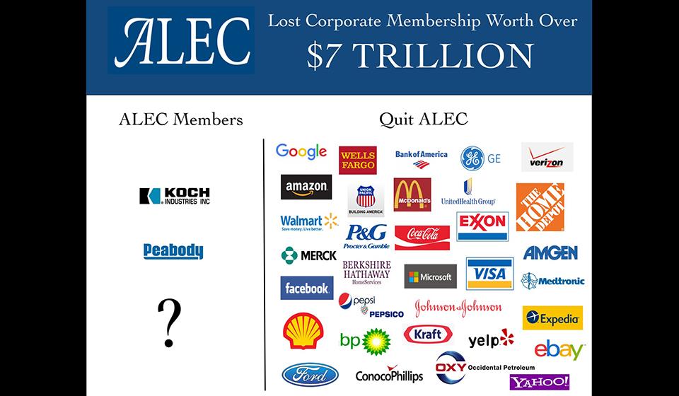 ALEC Lost Membership Worth Over $7 Trillion in Market Cap