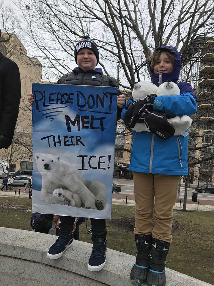 Please Don't Melt Their Ice, Climate March, Madison, WI, 3-15-2019