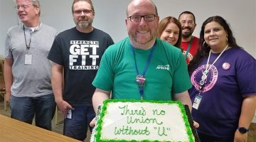 Janus retirement party (Photo courtesy of Joe Jay, AFSCME Council 31)