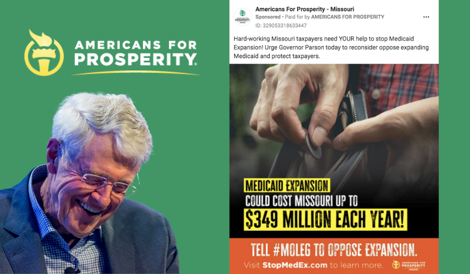 Despite Covid, Koch's Americans for Prosperity Continues Assault on Medicaid