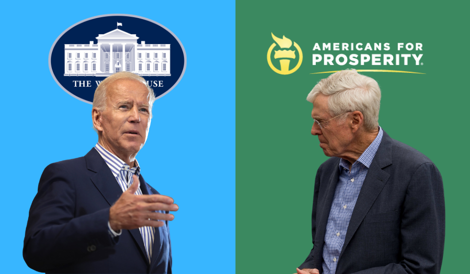 Koch's Americans for Prosperity Launches Nationwide Campaign to Oppose Biden's Infrastructure Plan